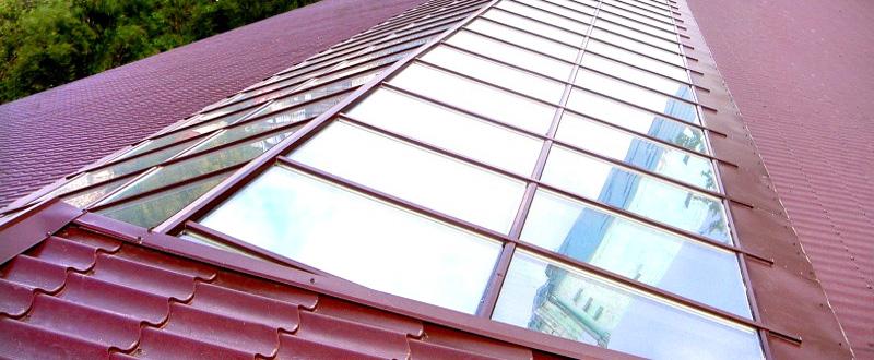 Как сделать крышу из стекла