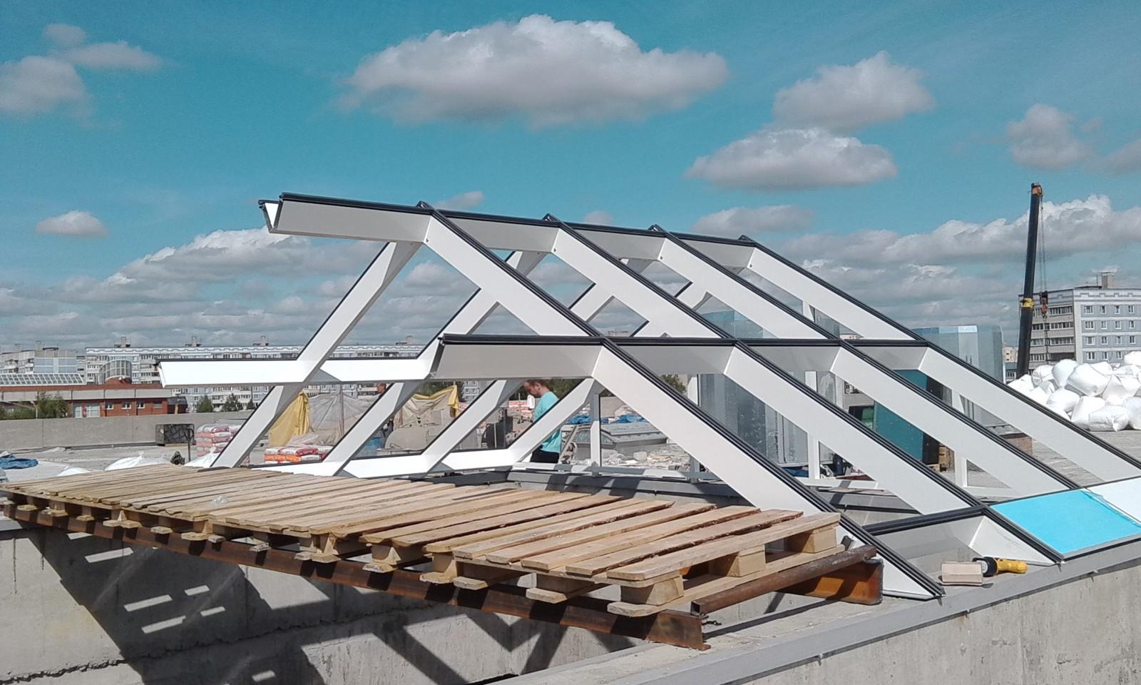 Крыша из стеклопакетов своими руками