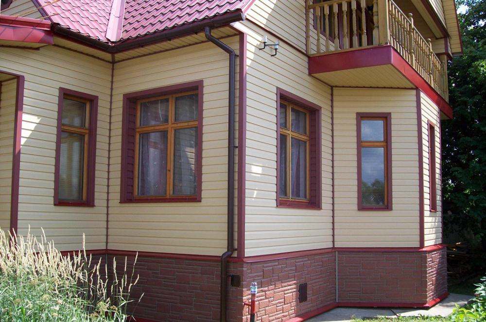 Фасад из сайдинга фото