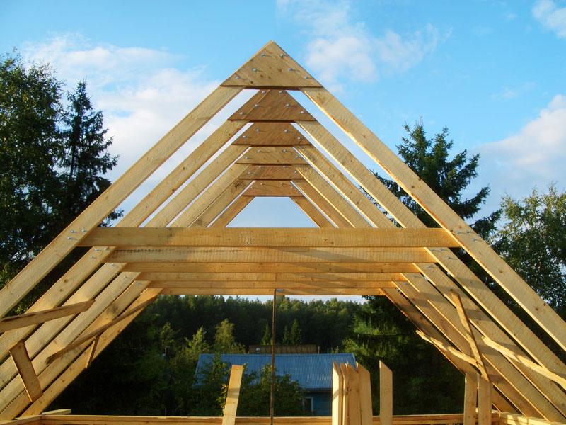 Стропильная система двухскатной крыши фото